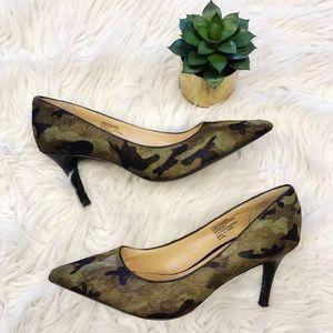 Banana Republic Camo Camouflage Pump Heels